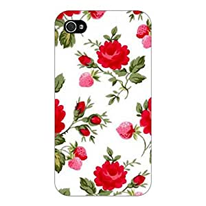 Jugaaduu Floral Pattern Back Cover Case For Apple iPhone 4S
