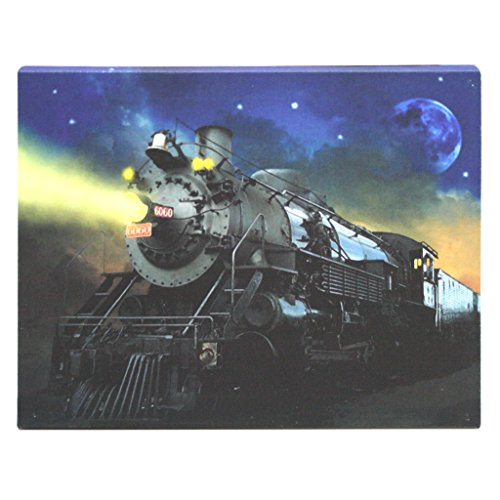 "Ohio Wholesale 37666 - 16"" X 12"" X 3/4"" - ""Train"" Battery Operated Led Lighted Canvas (Batteries Not Included)"