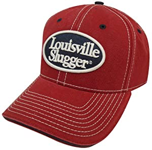 Louisville Slugger Men's Slugger Oval Structured Hat, Cardinal, One Size