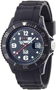 ICE-Watch - Montre Mixte - Quartz Analogique - F*** ME I'M FAMOUS - Black - Unisex - Cadran Noir - Bracelet Silicone Noir - FM.SI.BK.U.S.11