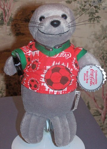 1999 Coca Cola Beanie : Seal in Soccer Shirt - 1
