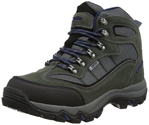 Hi-Tec  Keswick Waterproof,  Scarponcini da camminata ed escursionismo uomo Grigio Gris (charcoal/navy 051) 42 EU