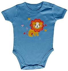 Kothari Unisex Kids' Regular Fit Romper (BBDS661_Lt Blue_3-6 M, Blue, 3-6 Months)