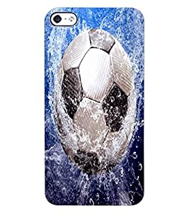 ColourCraft Football in Water Design Back Case Cover for APPLE IPHONE 4