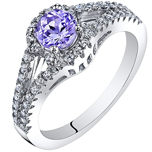 Tanzanite Gallery Ring Sterling Silver 0.50 Carat Size 6 (Tanzanite Ring Size 6 compare prices)