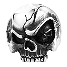 buy Bishilin Jewelry Mens Stainless Steel Rings Tortile Skull Ring Size 13