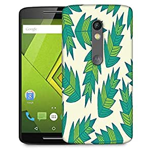 Snoogg A Seamless Leaf Pattern Designer Protective Phone Back Case Cover For Moto G 3rd Generation