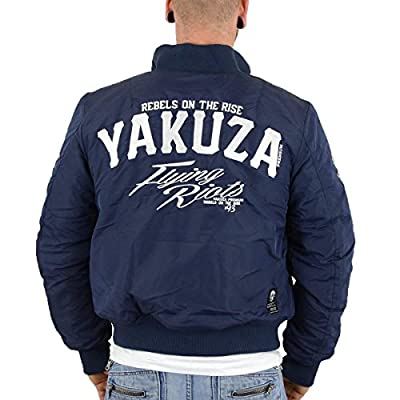 Yakuza Premium MA1 Bomberjacke Herren Flying Riots navy - fällt normal aus !!