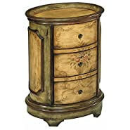 Traditional Painted 3-Drawer Accent Table
