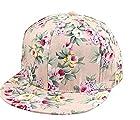 Floral Flower Snapback Adjustable Fitted Men's Women's Hip-Hop Cap Hat Headwear