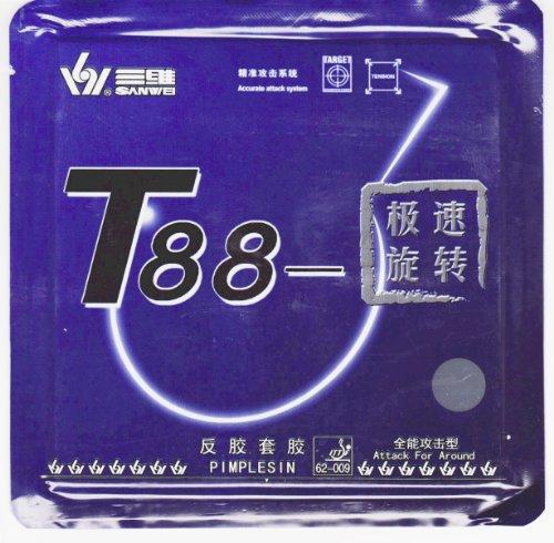 SANWEI T-88Ultra Spin tavolo da ping-pong, in gomma TT, tensione interna 39°, nero