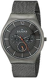 Skagen Grenen Titanium and Steel Mesh Multifunction Watch