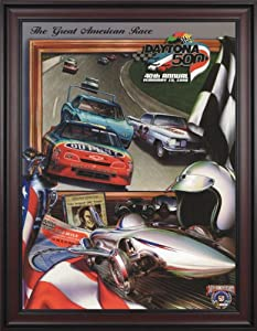 NASCAR Framed 36 x 48 Daytona 500 Program Print Race Year: 40th Annual - 1998 by Mounted Memories