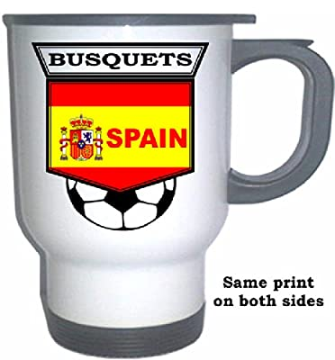 Sergio Busquets (Spain) Soccer White Stainless Steel Mug