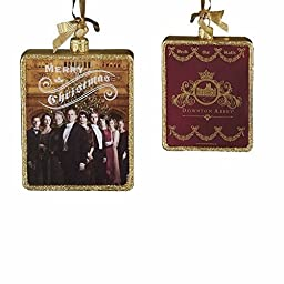 Downton Abbey Rectangular Glass Ornament, 4.25-Inch