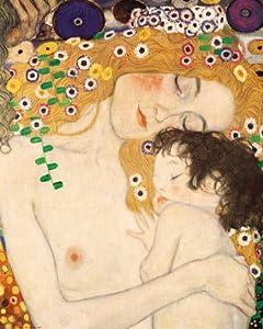 Lámina &Madre e hija (detalle de Las tres edades de la mujer), ca.1905&, de Gustav Klimt, Tamaño 61 x 76 cm   revisión y más información