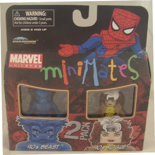 Picture of Art Asylum Marvel Minimates Series 34 Mini Figure 2Pack 90s Beast & 90s Rogue (B003EVEZYO) (Marvel Action Figures)