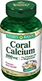 Nature's Bounty Coral Calcium 1000 mg Plus Vitamin D and Magnesium, 120 Capsules
