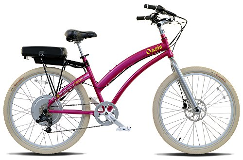 Prodecotech V3.6 Oasis St 48V 750W 8 Speed 9Ah Li Ion Electric Bicycle, Magenta Metallic, 26-Inch/One Size