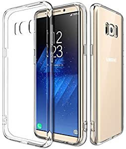 ELV Galaxy S8 Plus thin fit protective hard back side soft Case cover for Samsung Galaxy S8 Plus / Galaxy S8+ - Clear