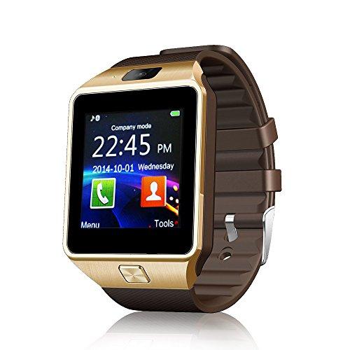 Ruichenxi SW01 Orologio da Polso Intelligente Bluetooth SmartWatch con Bluetooth 3.0 e Telecamera Touchscreen per Apple/iOS, Samsung /Android, HTC. Supporta Orologio Smartphone Sport SMI/TF