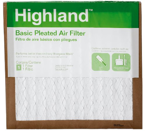 "3M FBA11DC-6 Highland Basic Pleated Air Filter, 14"" x 14"" x 1"" - 1"