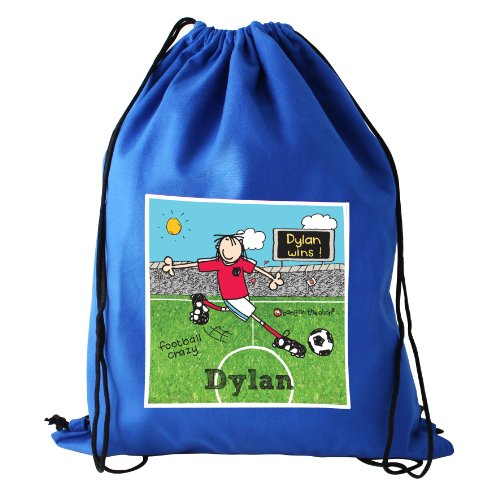 Bang On The Door Football Crazy Personalised Swim/Kit Bag - Ideal for school PE