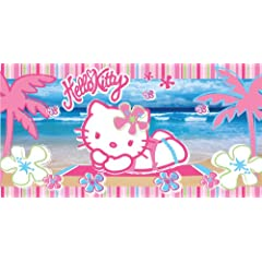 Hello Kitty Kitty Beach 30-Inch by 60-Inch Fiber Reactive Beach Towel