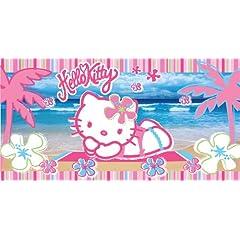 Hello Kitty Kitty Beach 30-Inch by 60-Inch Fiber Reactive Beach Towel