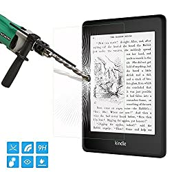 MoKo Screen Protector for Kindle Paperwhite / Kindle 2014, Premium HD Clear 9H Hardness Tempered Glass Film for Amazon Kindle Paperwhite 2012, 2013, 2015, Kindle Touch and Kindle 2014 (7th Gen)