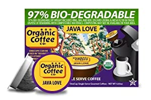 The Organic Coffee Co., Java Love, 36 OneCup Single Serve Cups
