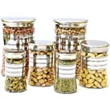 Bonito BELLY 06 Pcs Pet 4300-06 - 1400 Ml, 500 Ml, 250 Ml Plastic Multi-purpose Storage Container (Pack Of 6,...