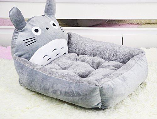 Pomélos ペット用 犬 猫 トトロのベッド ソフト クッション ハウス ソファ ふわふわ モコモコ 暖かい 洗える 2サイズ選べる 秋冬用 (M)
