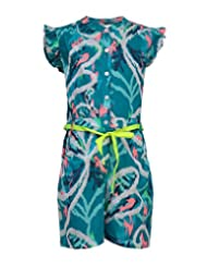 Budding Bees Girls Blue Printed Jumpsuit
