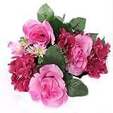 Pink Assortment Flower Rose Bunch 23