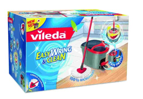 Vileda 133649 Easy Wring und Clean Wischmop / Microfaser Mop und Eimer mit PowerSchleuder
