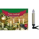 10 x kabellose led mini weihnachtskerzen mit fernbedienung - Kabellose christbaumkerzen mini ...