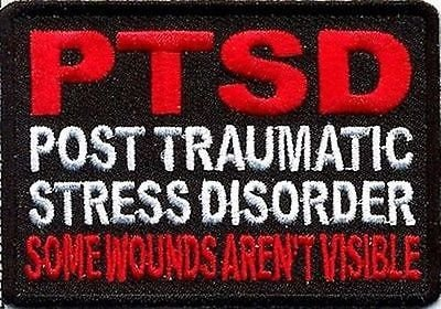 PTSD Some Wounds Aren't Visible POW Military VET MC Club BIKER Patch PAT-1467