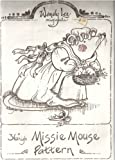 "Wendy Lee Originals 36"" Missie Mouse Sewing Pattern on Heavy Paper with Instructions"