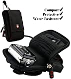 Black Swiss Protective Durable Camera Pouch With Removable Neck Strap For Nikon Coolpix S3100 / S3300 / S4100 / S4300 / S5100 / S6100 / S6200 / S6300 / S70 / S80 / S8100 / S8200 / S9300 Compact Point and Shoot Photo Camera