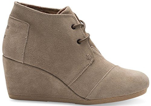 Toms Womens Desert Wedge Taupe Suede Size 10