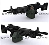 模型 ペーパークラフト 高級防水紙 m249 軽機関銃