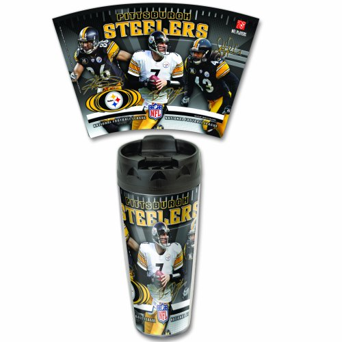 PITTSBURGH STEELERS OFFICIAL PLAYER TRAVEL MUG