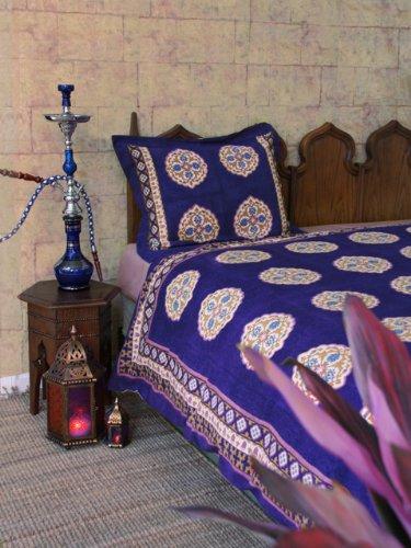 Sultans Palace ~ Purple Blue Moroccan Vintage Print Queen Duvet 90X90 front-914841