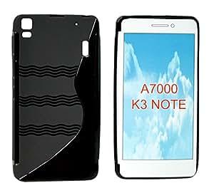 TOTTA S-Line Silicone Back case Cover For Lenovo A7000 -BLACK