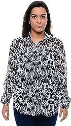 CHLOE Women's Regular Fit Shirt (CH-AM-11357P15-XS, White, XS)