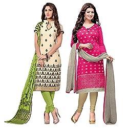 Ruaab Fashion Women Designer Dress Materials Combo(RF_AD_504)