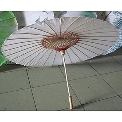 ROSENICE Chinesischen japanischen Stil asiatischer geölt Papier Bambus Regenschirm Sonnenschirm Regenschirm - Größe L von ROSENICE - Gartenmöbel von Du und Dein Garten