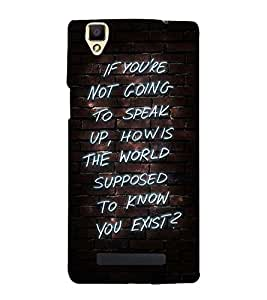 MEANINGFULL EXISTENCE QUOTE 3D Hard Polycarbonate Designer Back Case Cover for Oppo F1