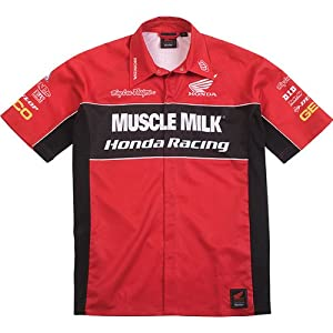 Troy Lee Designs Honda Team Pit Men's Polo Race Wear Shirt - Red / X-Large